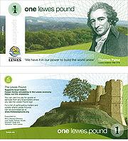 Lewes Pound, el ejemplo de una moneda local.
