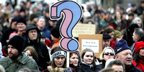 Manifestaciones ciudadanas en la capital islandesa
